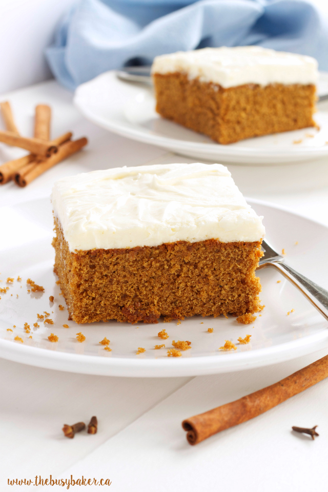 Gingerbread Spice Cake with Fluffy Cream Cheese Frosting ...