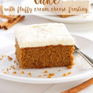 Gingerbread Spice Cake with Fluffy Cream Cheese Frosting