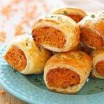 Vegetarian Red Lentil Sausage Rolls