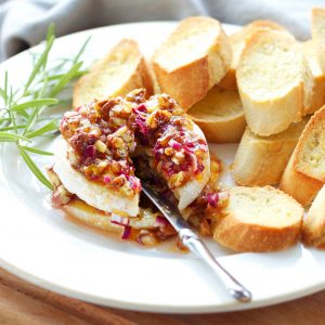 Apricot Pecan Baked Brie Appetizer