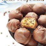 No Bake Chocolate Dipped Cookie Dough Balls