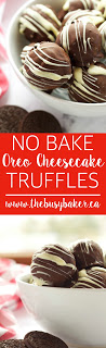 No Bake Oreo Cheesecake Truffles are the perfect holiday recipe! www.thebusybaker.ca