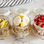Breakfast Fruit and Granola Parfaits (Basic Homemade Granola Recipe)