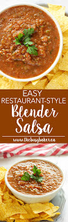 Easy Restaurant Style Blender Salsa is SO easy to make and perfect for dipping! www.thebusybaker.ca