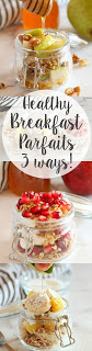 Healthy Fruit, Yogurt, and Granola Parfaits - 3 ways! Recipes from www.thebusybaker.ca