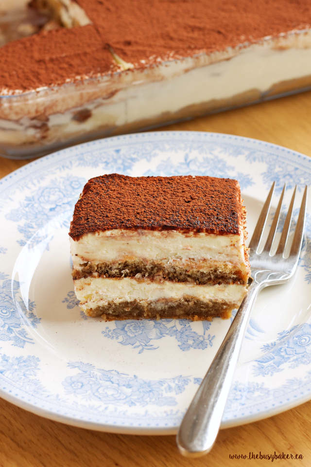 No Bake Tiramisu Icebox Cake - The Busy Baker