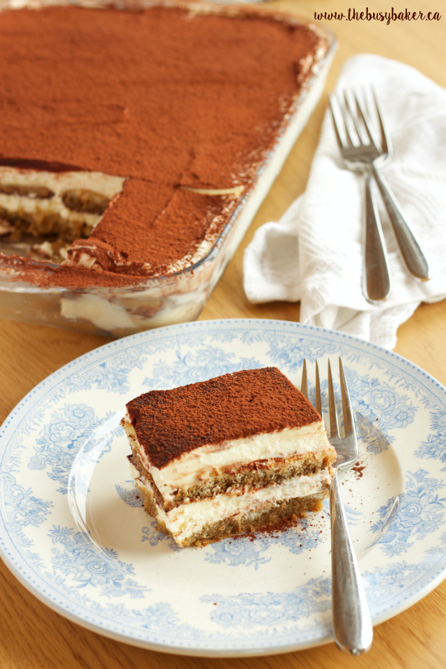 This No Bake Tiramisu Icebox Cake is the perfect easy dessert that tastes just like a traditional Italian Tiramisu, without all the effort! Recipe on www.thebusybaker.ca