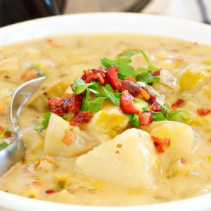 Crock Pot Potato Bacon Leek Soup (Slow Cooker)