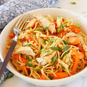 Easy One Pan Kung Pao Chicken Pasta
