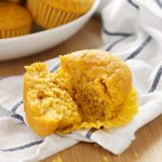Healthy Pumpkin Cornbread Muffins