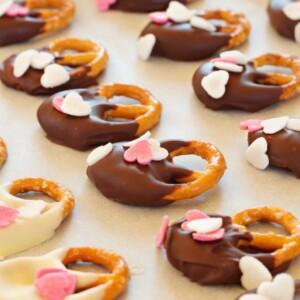 Easy DIY Valentine's Day Pretzel Treats