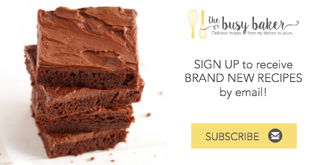 The Busy Baker Newsletter Subscribe Button
