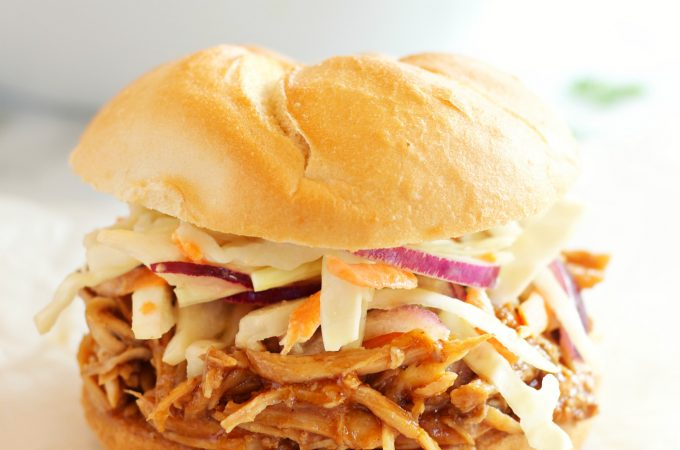 Easy Slow Cooker Barbecue Pulled Pork Sandwiches