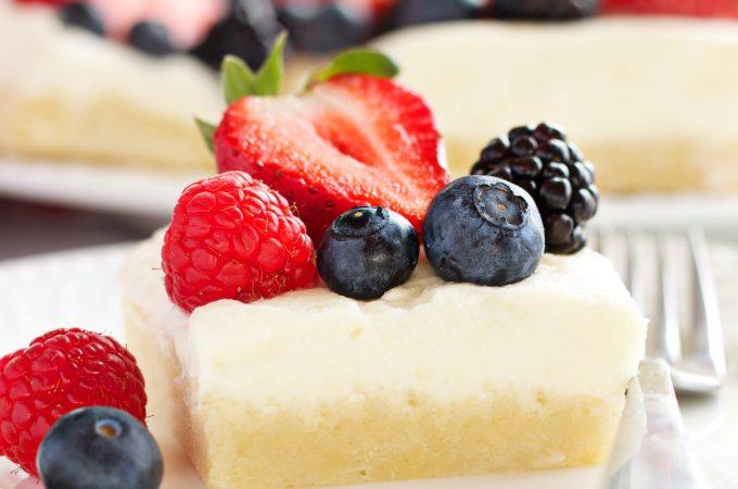 Berry Cheesecake Sugar Cookie Bars
