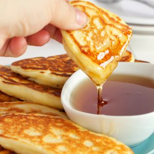 Breakfast Sausage Pancake Dippers