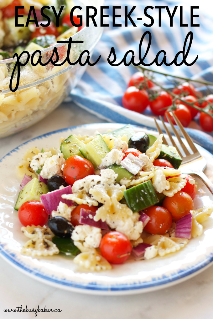 Quick and Easy Greek Pasta Salad