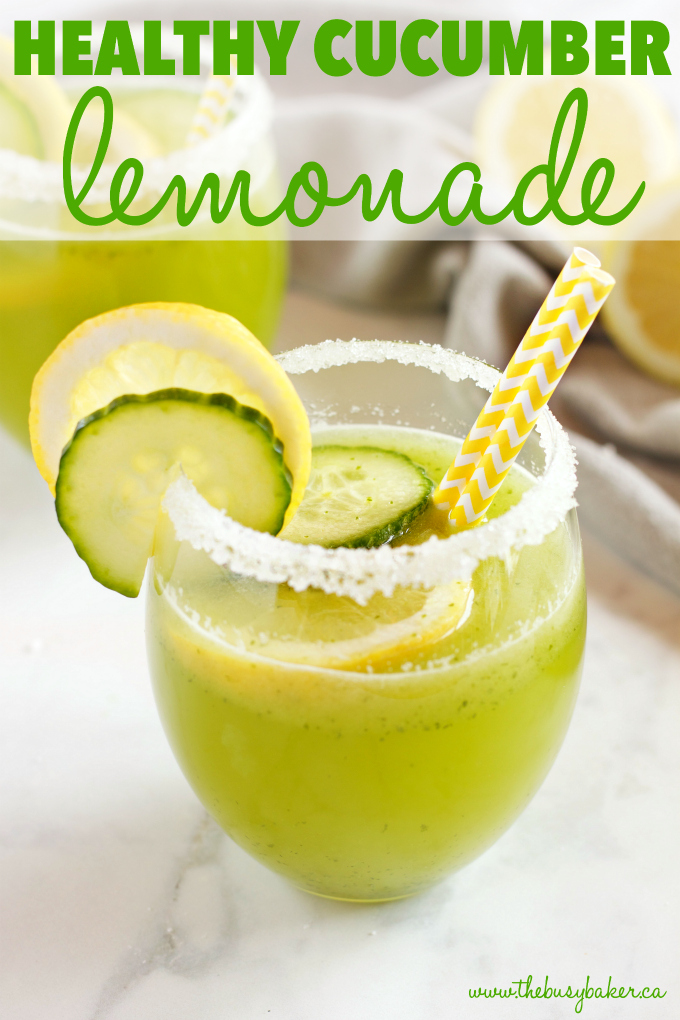 Healthy Cucumber Lemonade The Busy Baker