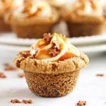 Gingerbread Cookie Cups with Pumpkin Cheesecake Filling