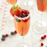 Sparkling Winter Berry Holiday Cocktail (with Alcohol-Free Option)