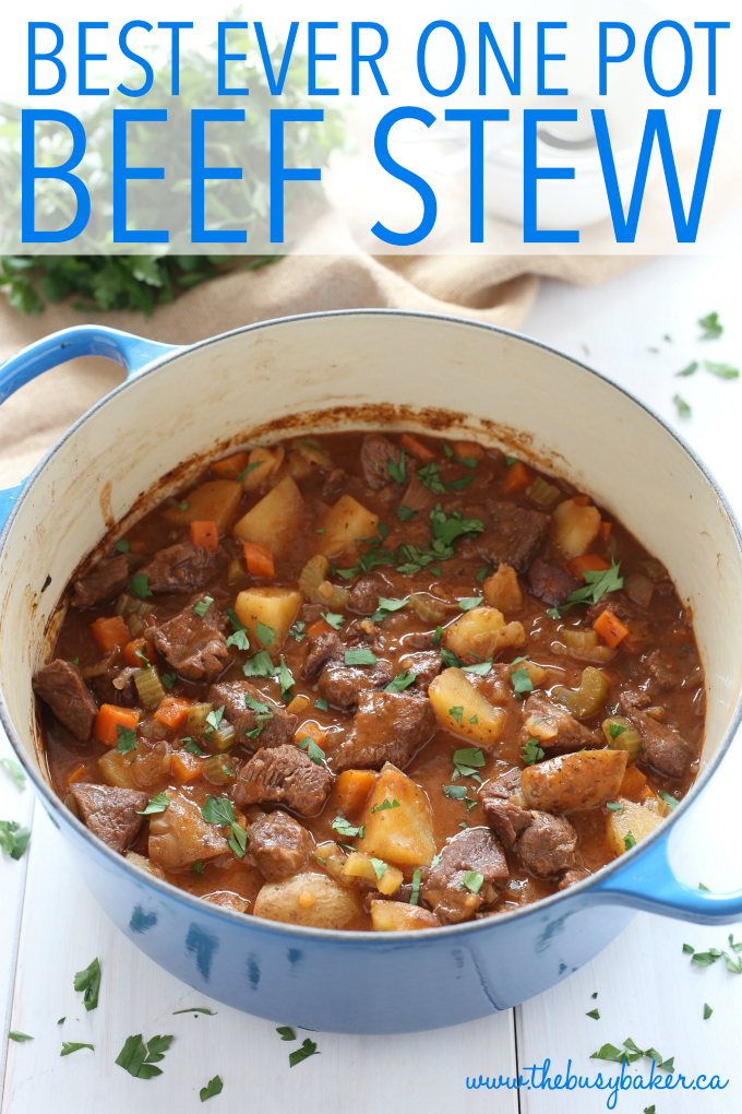 Best Ever One Pot Beef Stew The Busy Baker
