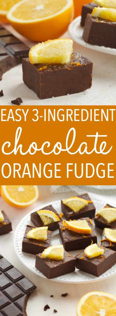 This Easy 3-Ingredient Chocolate Orange Fudge is the perfect Christmas treat for the holidays that's easy to make in just minutes! Recipe from thebusybaker.ca! #chocolatefudge #homemadefudge #easyfudgerecipe #christmasfudgerecipe #chocolateorange