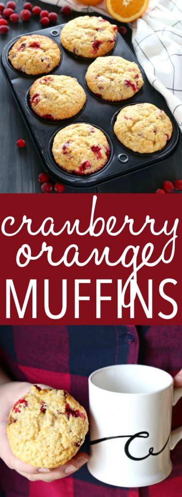 These Cranberry Orange Muffins are packed with tart cranberries and zesty orange flavour and they make the perfect sweet treat or snack! They're the perfect recipe for beginning bakers because they're easy to make with simple ingredients! Recipe from thebusybaker.ca! #cranberryorangemuffins #easymuffinrecipe