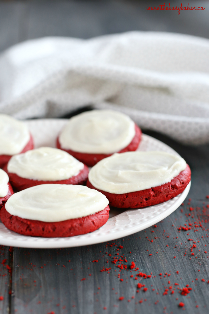 Soft And Chewy Red Velvet Sugar Cookies The Busy Baker
