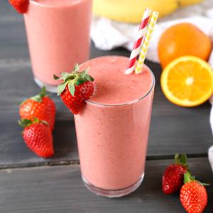 Strawberry Banana Orange Power Smoothie