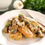 One Pan Chicken with White Wine Mushroom Sauce