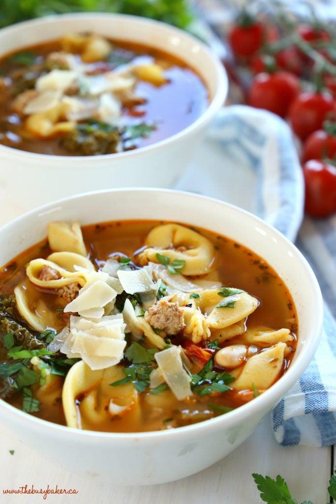 Rustic Italian Sausage Tortellini Soup