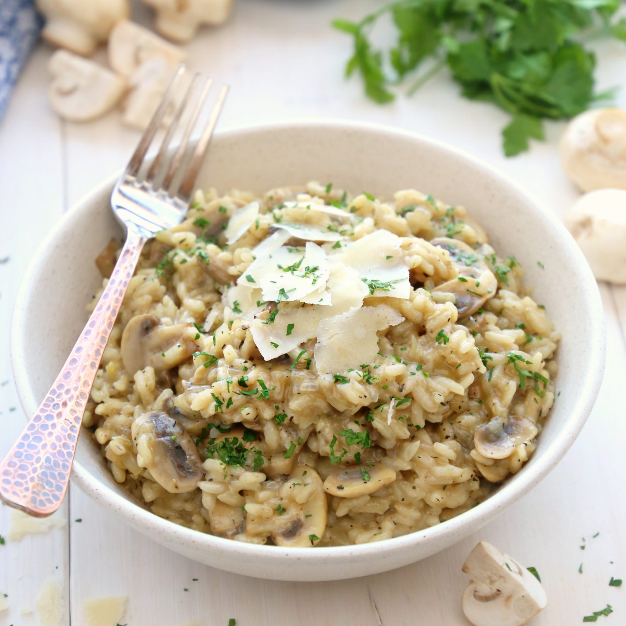 Easy Mushroom Risotto The Busy Baker