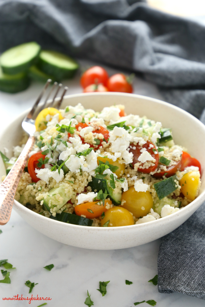 Greek Couscous Salad with vegetables