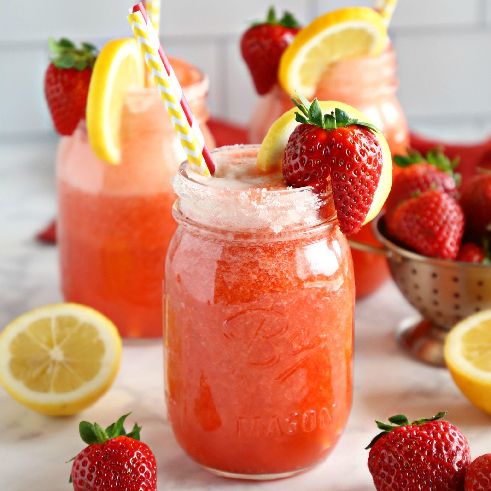 Healthy Strawberry Lemonade
