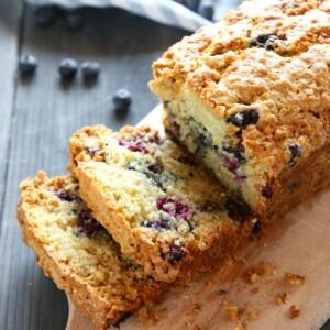 Lemon Blueberry Oat Bread