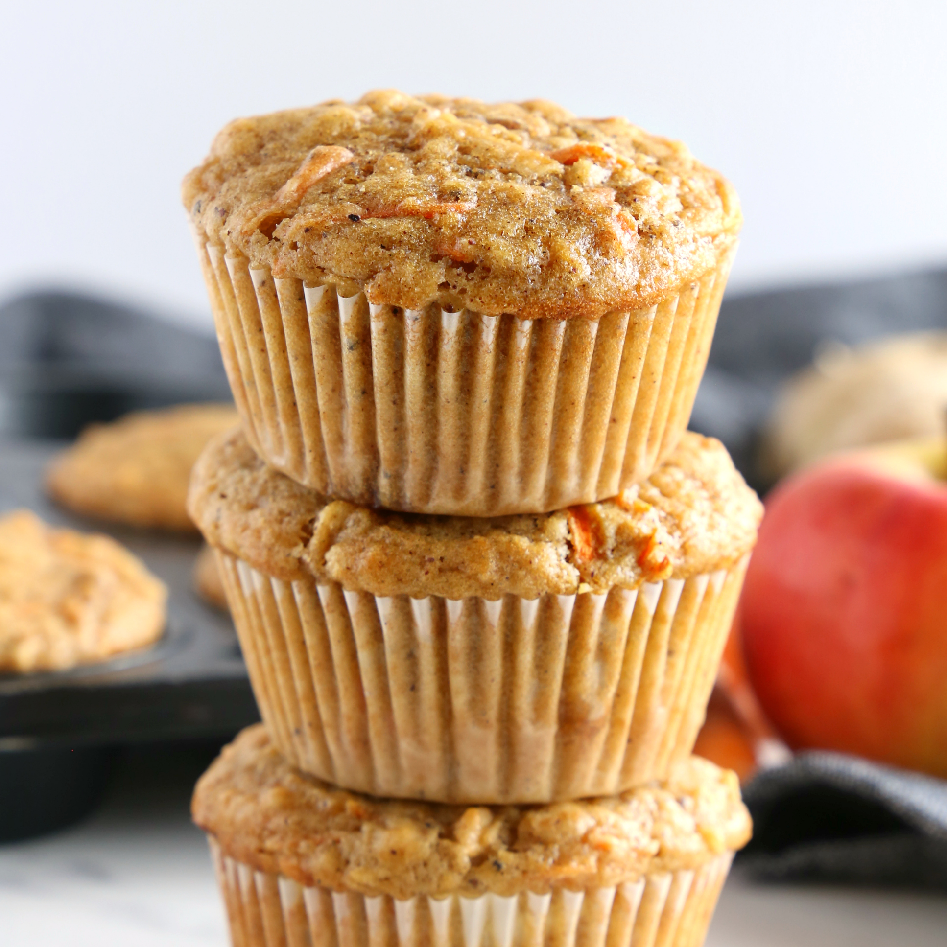 Apple Carrot Ginger Muffins Easy Muffin Recipe The Busy Baker