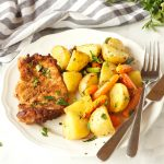 Easy Pork Chop Sheet Pan Dinner