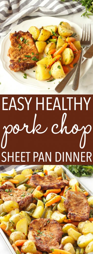 Easy Pork Chop Sheet Pan Dinner Pinterest Pin