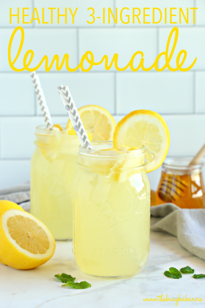 Healthy 3-Ingredient Lemonade with text