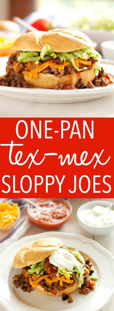 One Pan Mexican Style Sloppy Joes Pinterest Pin