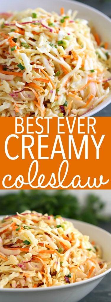 Best Ever Creamy Coleslaw Pinterest
