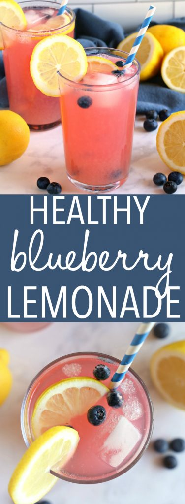 Healthy Blueberry Lemonade Pinterest Pin Collage