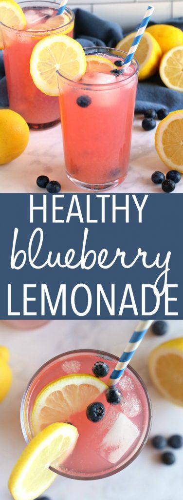 Healthy Blueberry Lemonade Pinterest Pin Collage