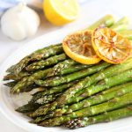 Lemon Garlic Roasted Asparagus