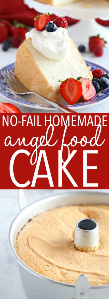 No Fail Homemade Angel Food Cake Pinterest