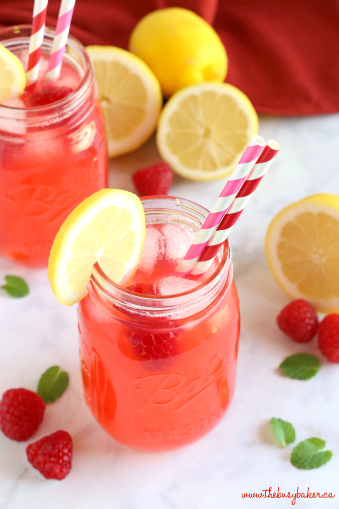 Easy Healthy Raspberry Lemonade {No Refined Sugar!} - The