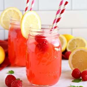 Easy Healthy Raspberry Lemonade