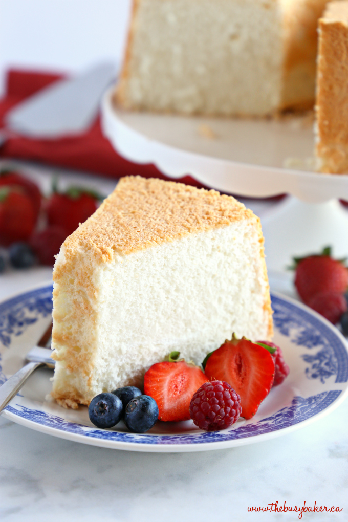No Fail Homemade Angel Food Cake perfect texture