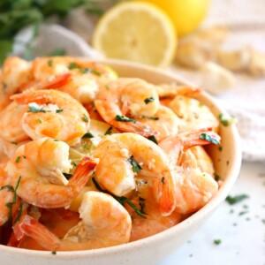 Easy Roasted Garlic Butter Shrimp