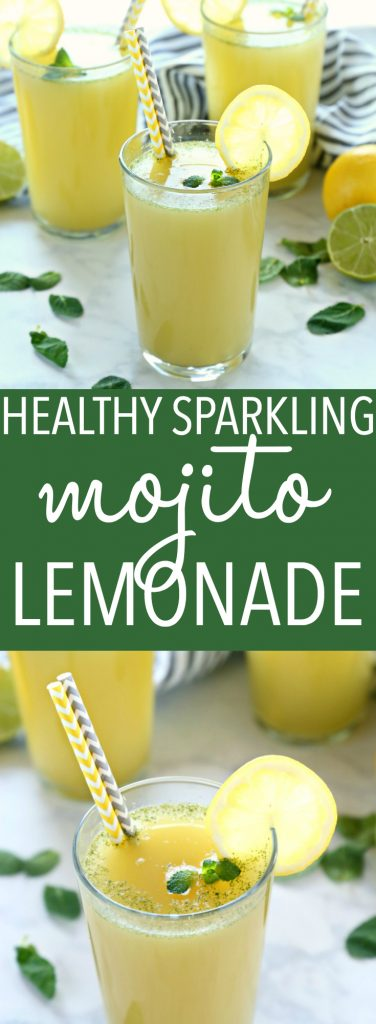 Healthy Sparkling Mojito Lemonade Pinterest