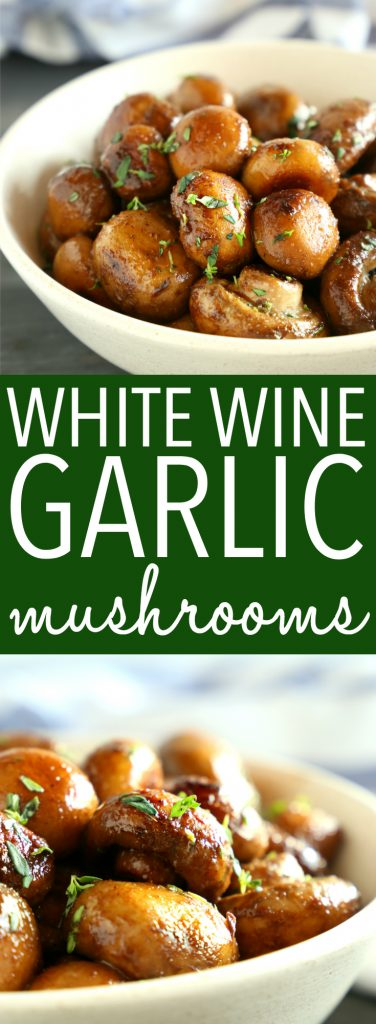 White Wine and Garlic Mushrooms Pinterest